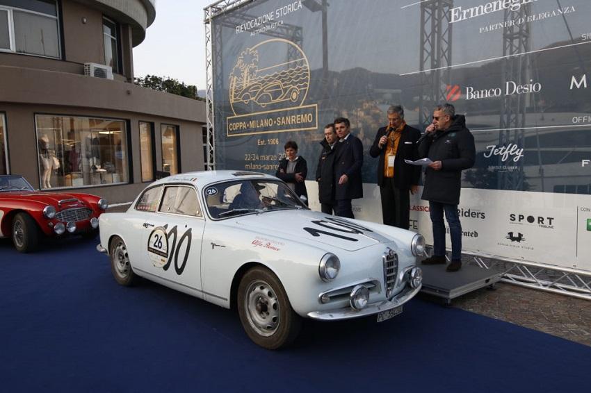 Una Lancia Aprilia del 1939 vince la Coppa Milano-Sanremo 2018.
