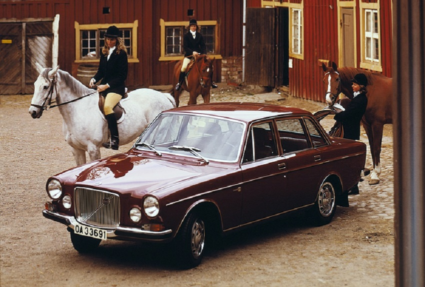 Del 1968 la berlina 164, prima Volvo con aspirazioni premium.