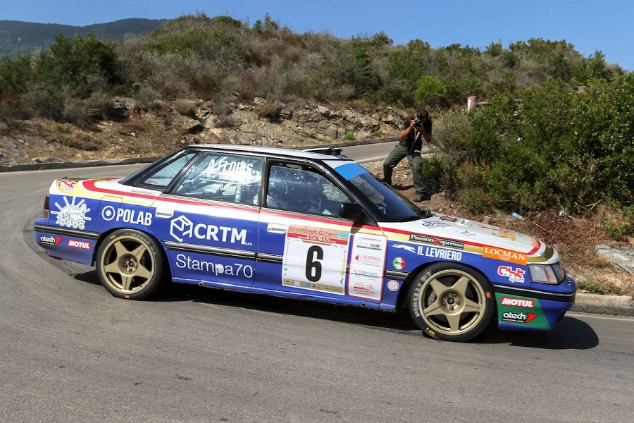 Il Rallye Elba Storico è ancora di Riolo-Floris su Subaru Legacy.