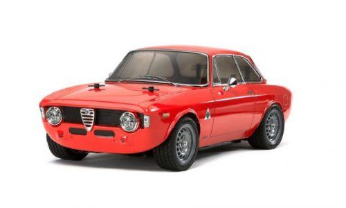 Un Alfa Giulia Sprint Gta in scala 1:10 molto veloce.