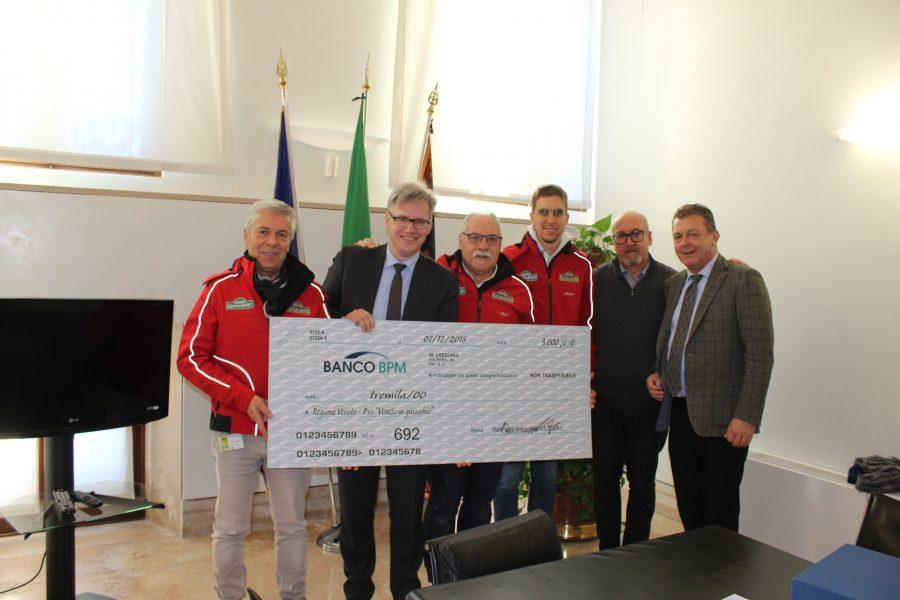"""Il Rally Club Valpantena devolve in beneficenza a """"Veneto in ginocchio""""."""