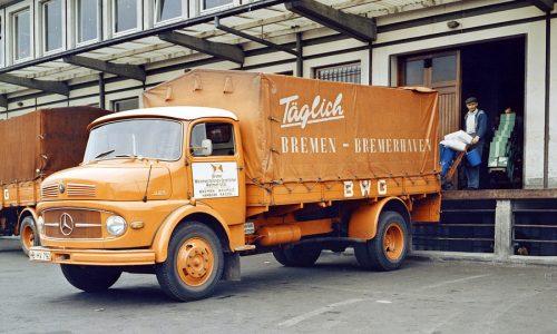 60 anni fa la svolta Mercedes nei camion con il 'muso corto'.