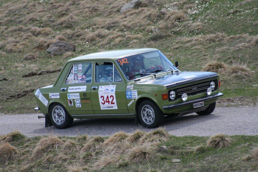 La Fiat 128 di Turri e Russo primeggiano a Valsugana Classic 2019.