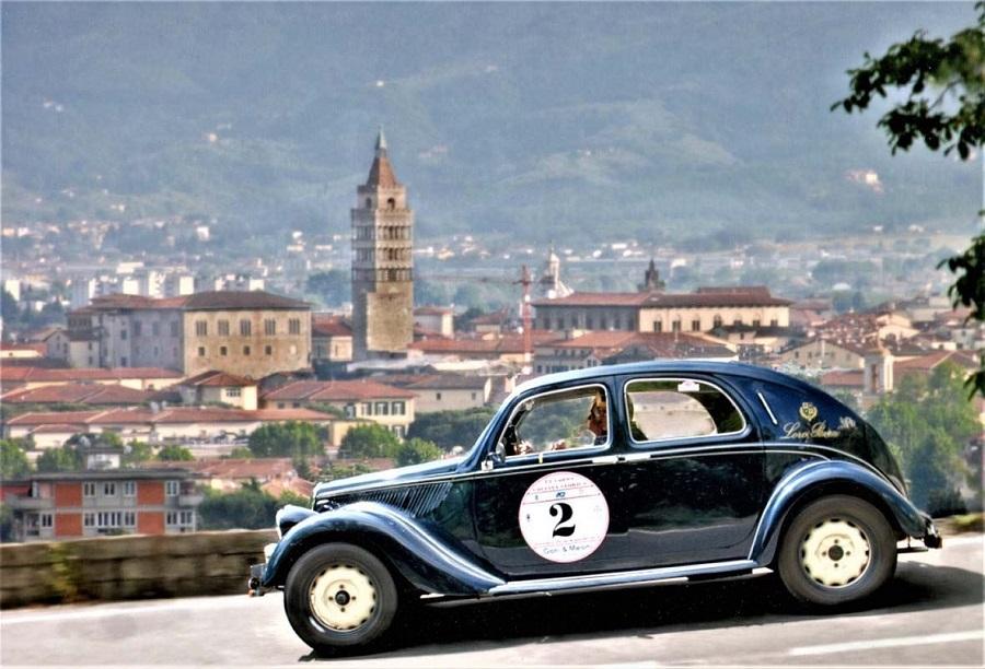 Zanasi e Bertini su Fiat 508 C vincono la Coppa della Collina Storica.