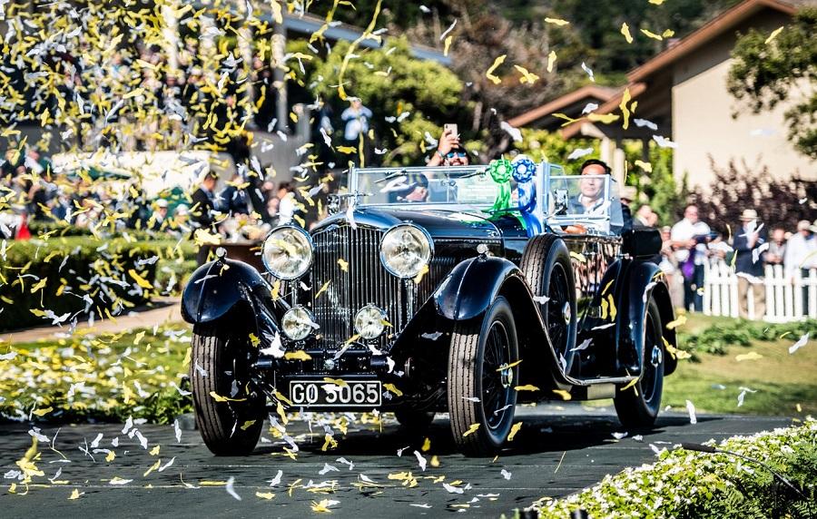 Una Bentley 8 Litri 1931 vince il Concorso d'Eleganza di Pebble Beach.