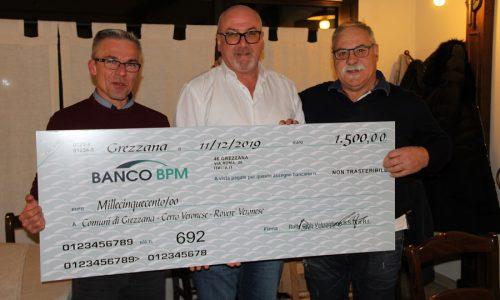 Il Revival Rally Club Valpantena dona un contributo ai comuni di Grezzana, Cerro Veronese e Roverè Veronese.