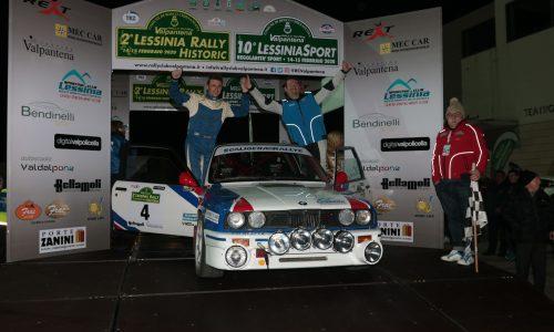 """""""Raffa"""" e Paolo Scardoni concedono il bis al 2° Lessinia Rally Historic."""