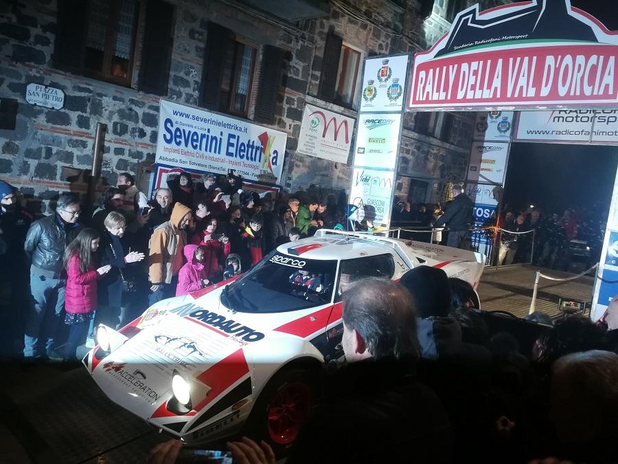 Al Rally Val d'Orcia vincono Mauro Sipsz e Monica Bregoli su Lancia Strato's.