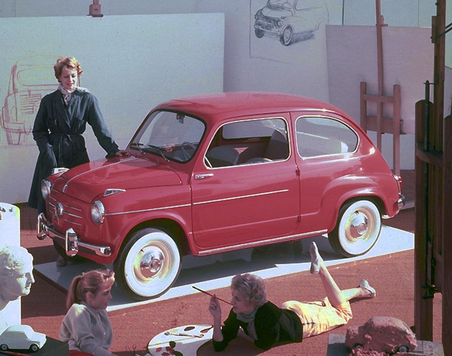 Fiat 600, icona del boom economico italiano, compie 65 anni.