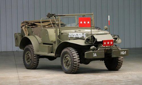 Dodge WC57, va all'asta il Command Car del generale Patton