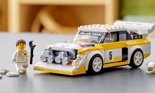 Un'Audi Sport quattro tutta da montare.