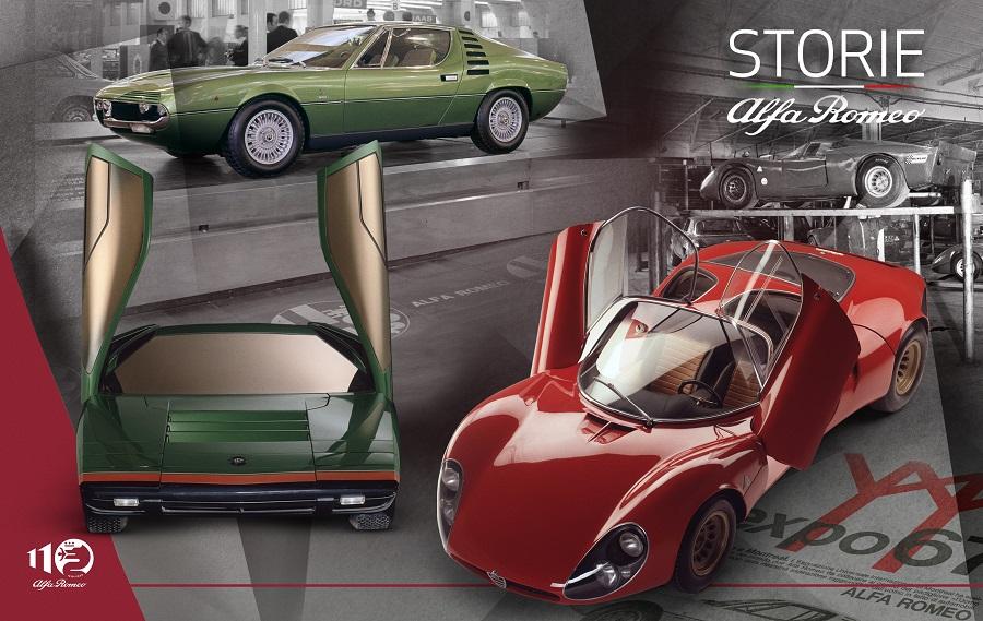 """""""Storie Alfa Romeo"""", settima puntata – La rivoluzione di forme e colori: 33 Stradale, Carabo e Montreal."""