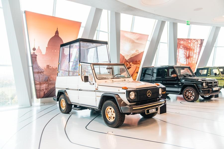 Mercedes, 40 anni fa debutto Papamobile basata su Classe G.