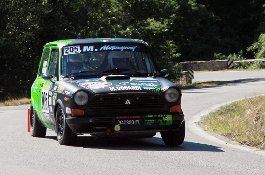 Trofeo A112 Abarth Yokohama: il Vallate Aretine a Droandi.
