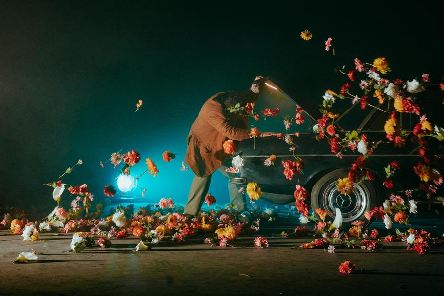 Auto d'epoca sul palco del Rigoletto al Circo Massimo.