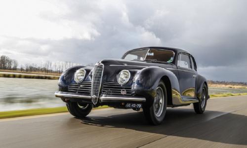 Una rara Alfa Romeo 6C 2500 Sport Berlinetta del 1944 all'asta da Finarte.