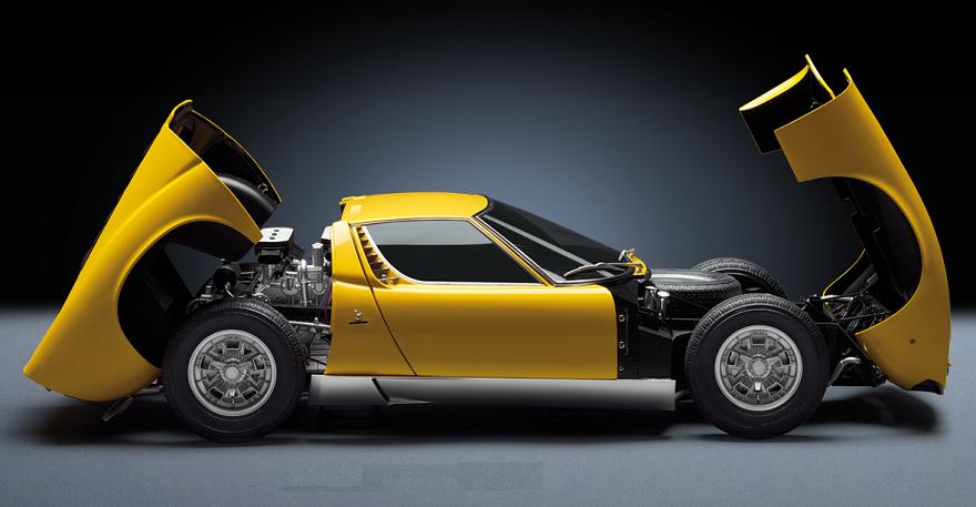 La Lamborghini Miura a fascicoli in edicola, tutta da montare.