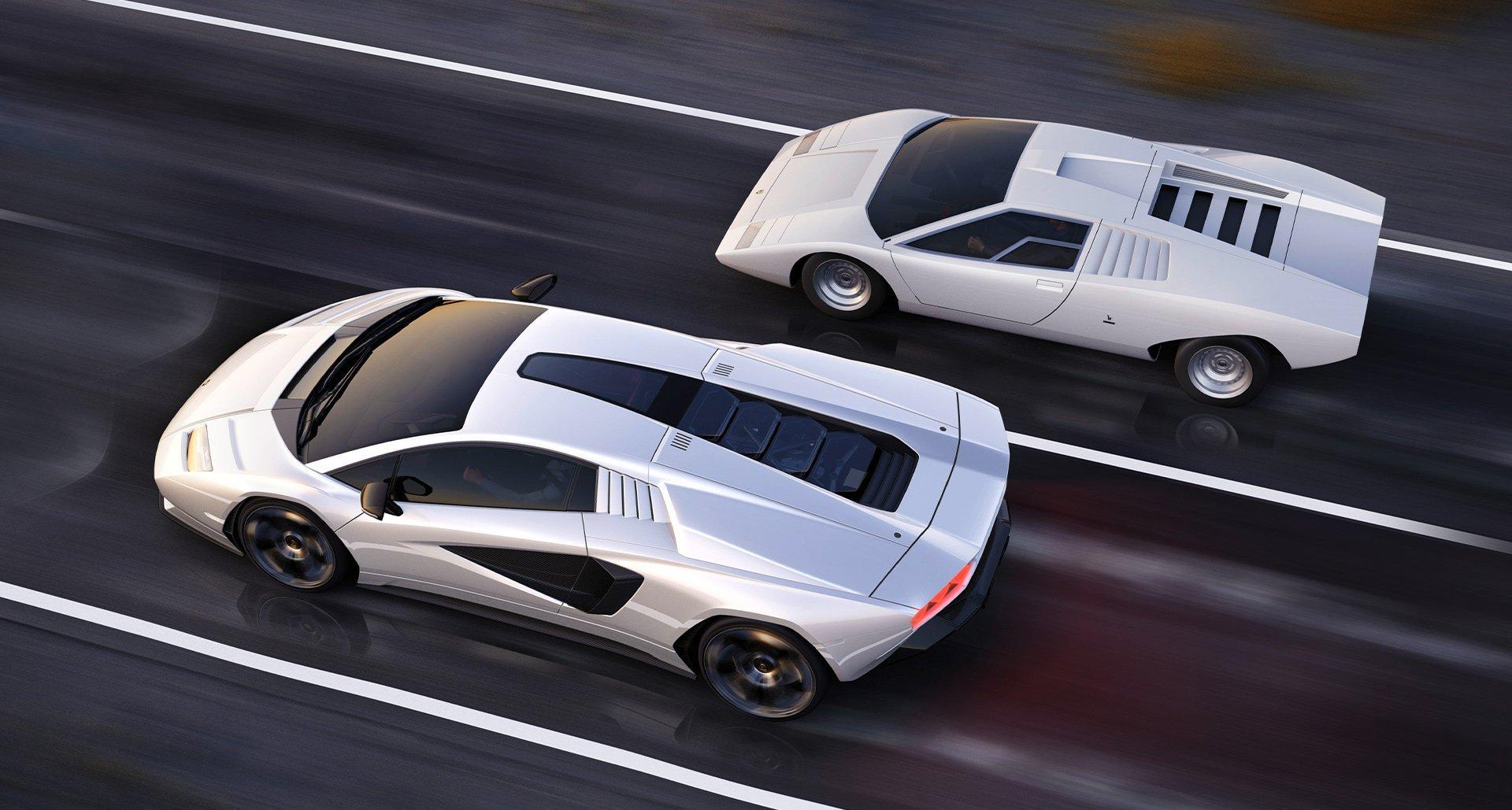 Rivive il mito di Lamborghini Countach, in chiave moderna.