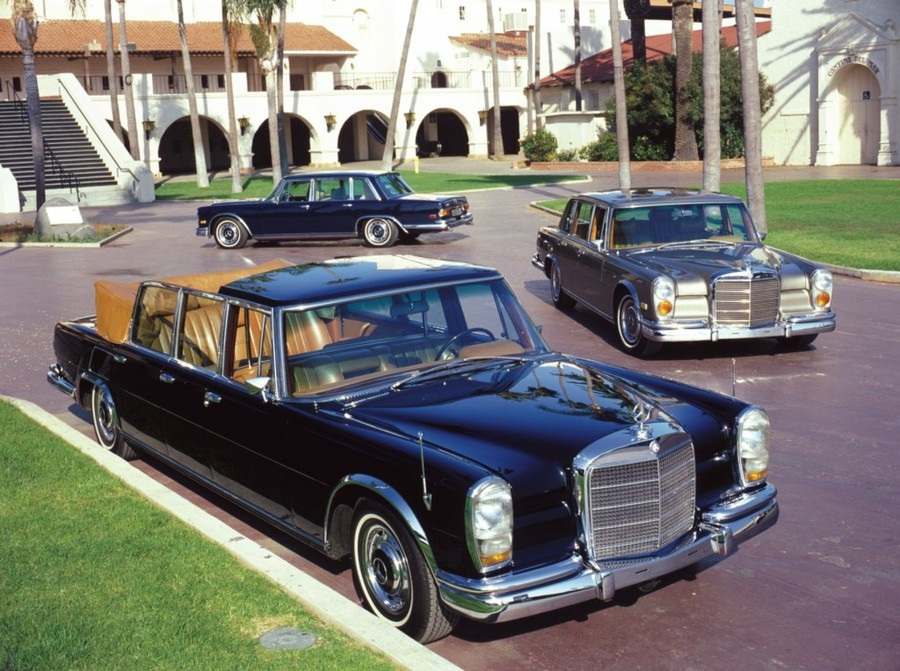 Mercedes W100, la 'super lusso' di capi di Stato e rockstar.